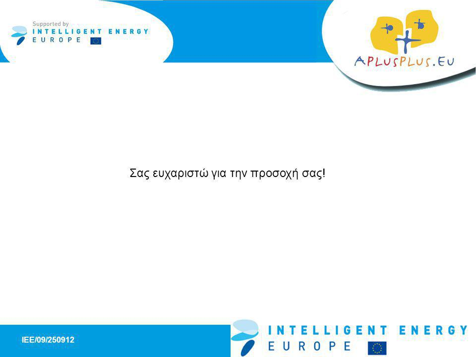 IEE/09/ SHEEP - A Schools panel for High Energy Efficiency Products 10 Σας ευχαριστώ για την προσοχή σας!
