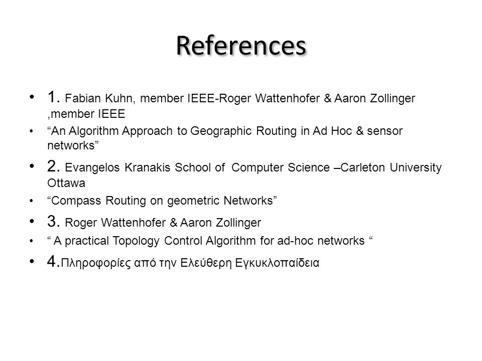 References •1.