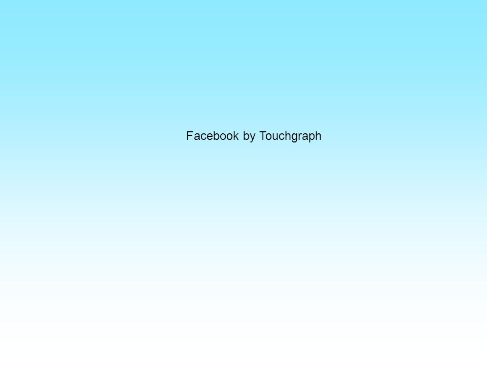Facebook by Touchgraph