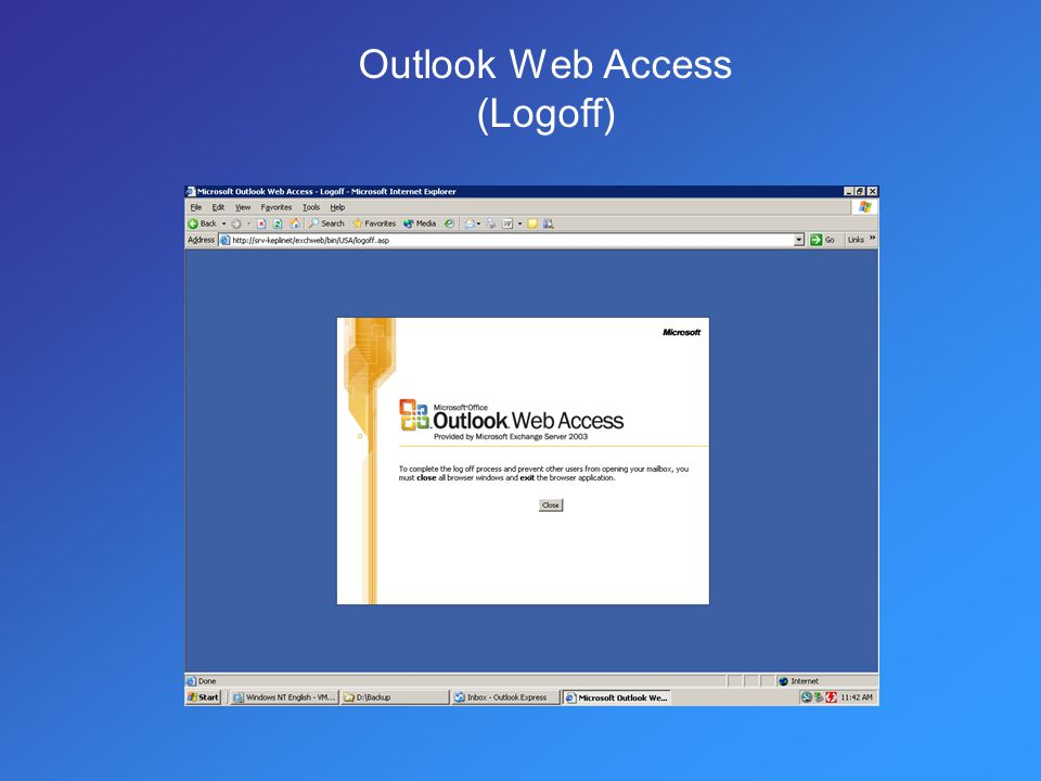 Outlook Web Access (Logoff)