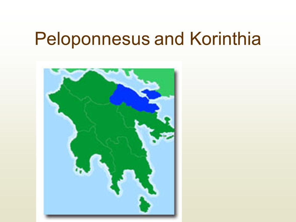 Peloponnesus and Korinthia