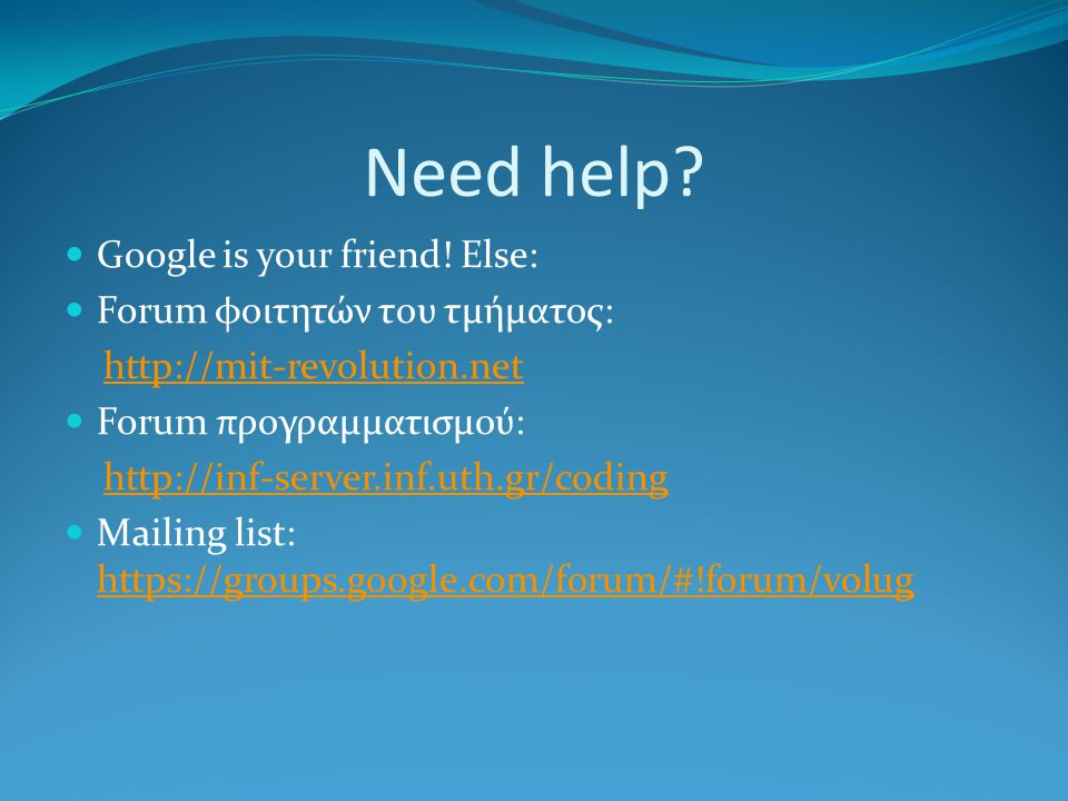 Need help. Google is your friend.