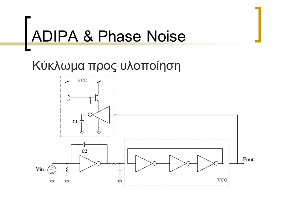 ADIPA & Phase Noise Κύκλωμα προς υλοποίηση