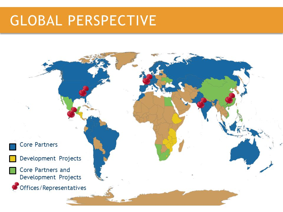 GLOBAL PERSPECTIVE Core Partners Development Projects Core Partners and Development Projects Offices/Representatives