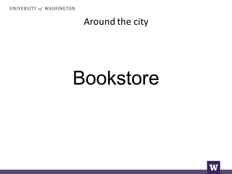 Around the city Bookstore