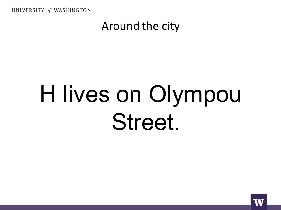 Around the city H lives on Olympou Street.